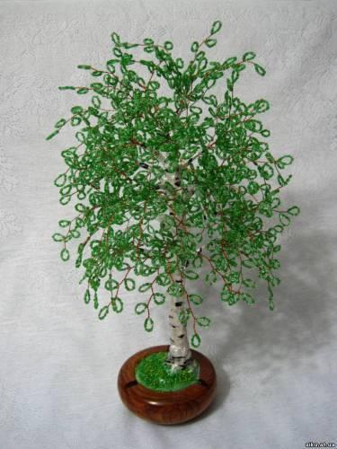 деревья из бисера ''Весенняя берёза.